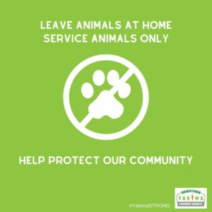 Leave animals at home. Service animals only.