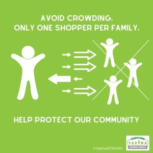 Avoid crowding.  Only one shopper per family.