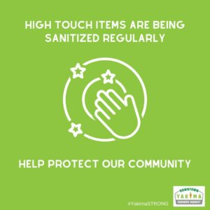High touch items are being sanitized regularly